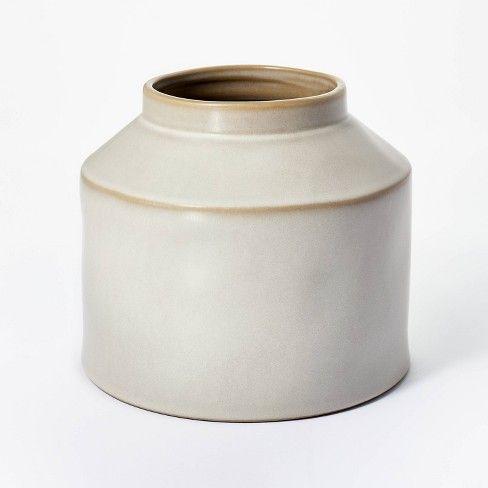 Soft cream ceramic vase from Studio Mcgee Target.