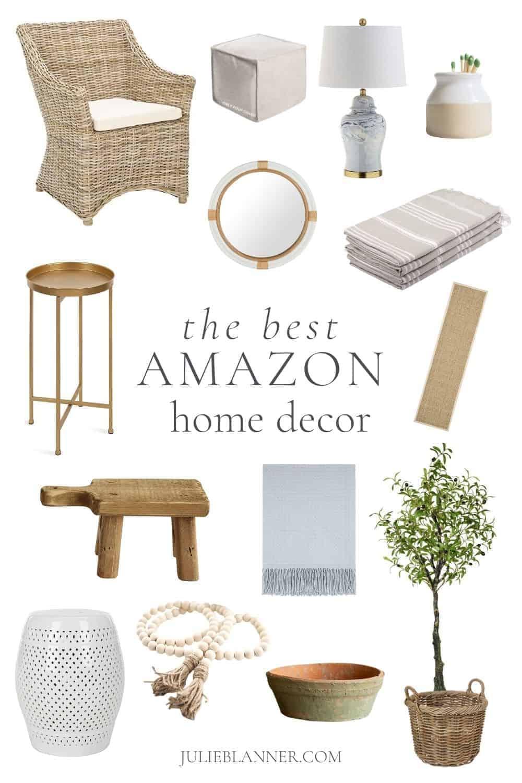 collage of amazon home decor ideas