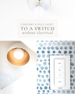 graphic with text overlay turning pull light to a switch without electrical