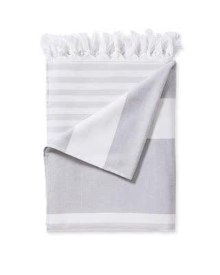 stripe towels with tassels