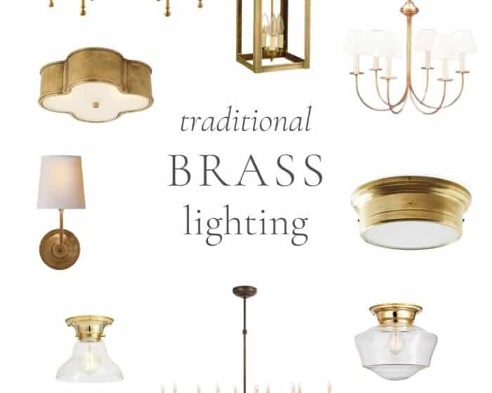 collage of brass lights