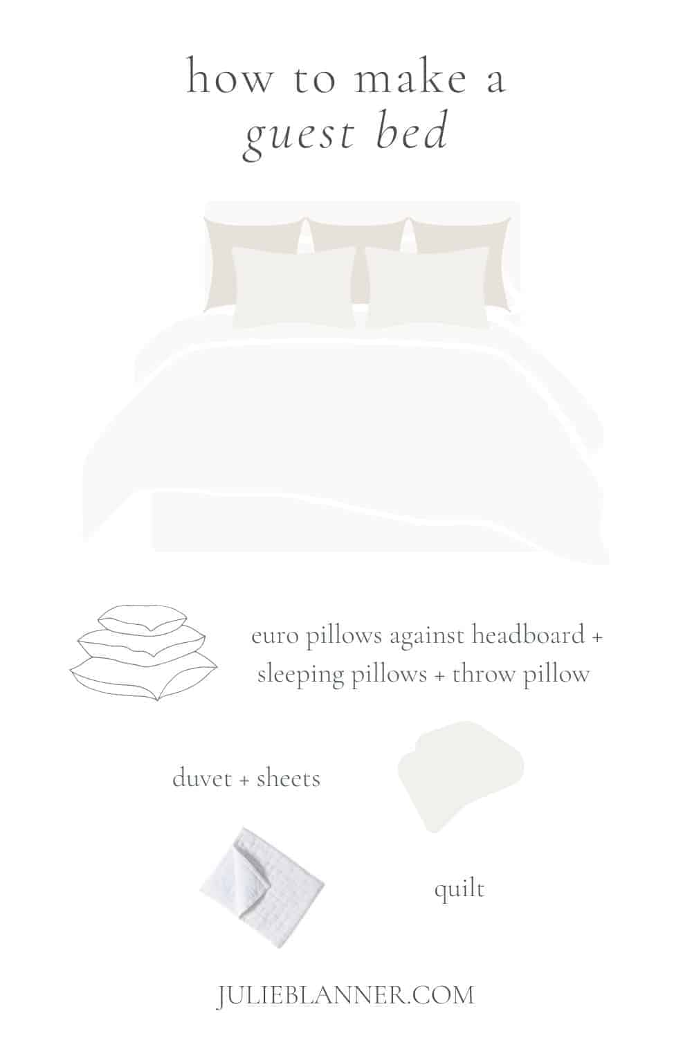 how to make a guest bed graphic