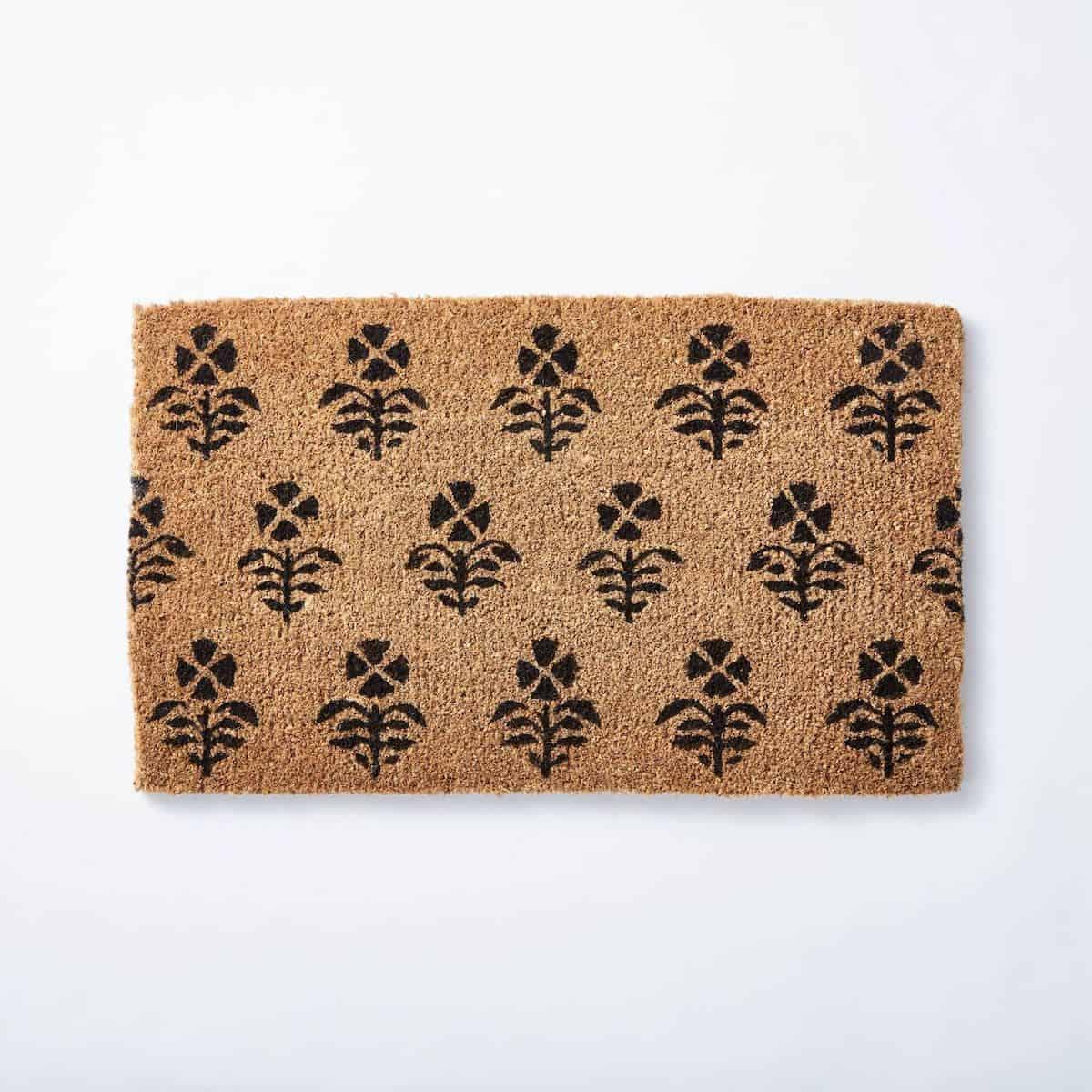 block print door mat