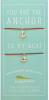 best friend necklaces anchor and boat