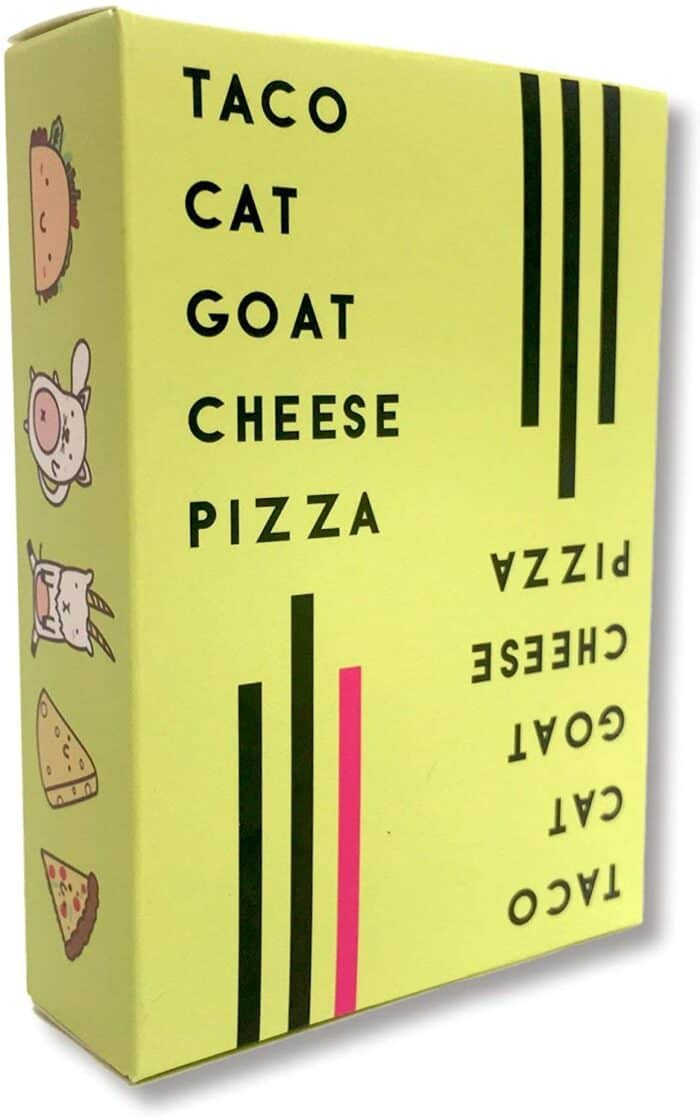 Taco Cat Goat Cheese Pizza game box