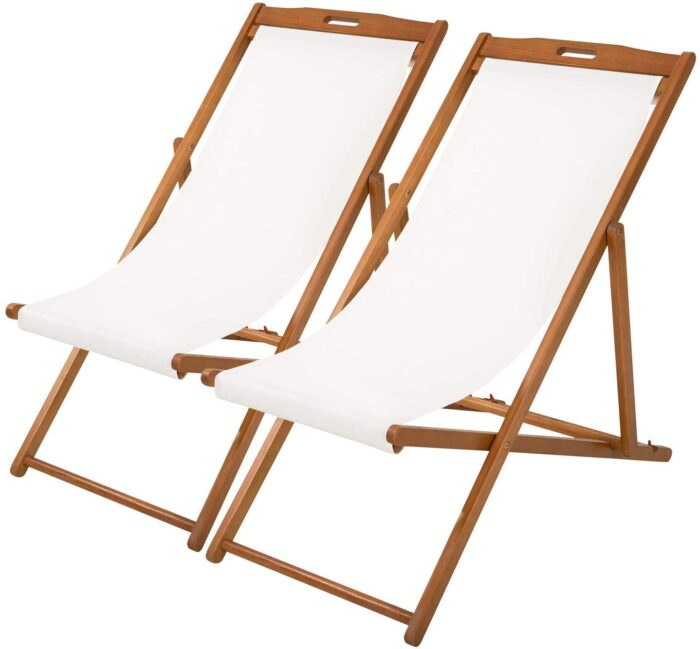 2 sling chairs