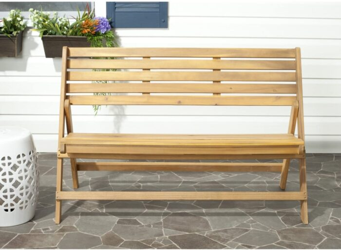 folding wood bench