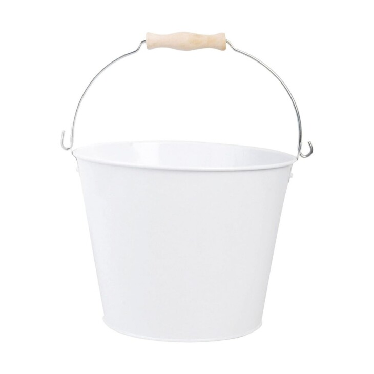 white cleaning bucket