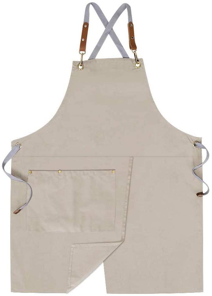 neutral gardening apron
