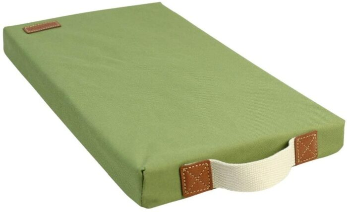 A green kneeling pad for gardening