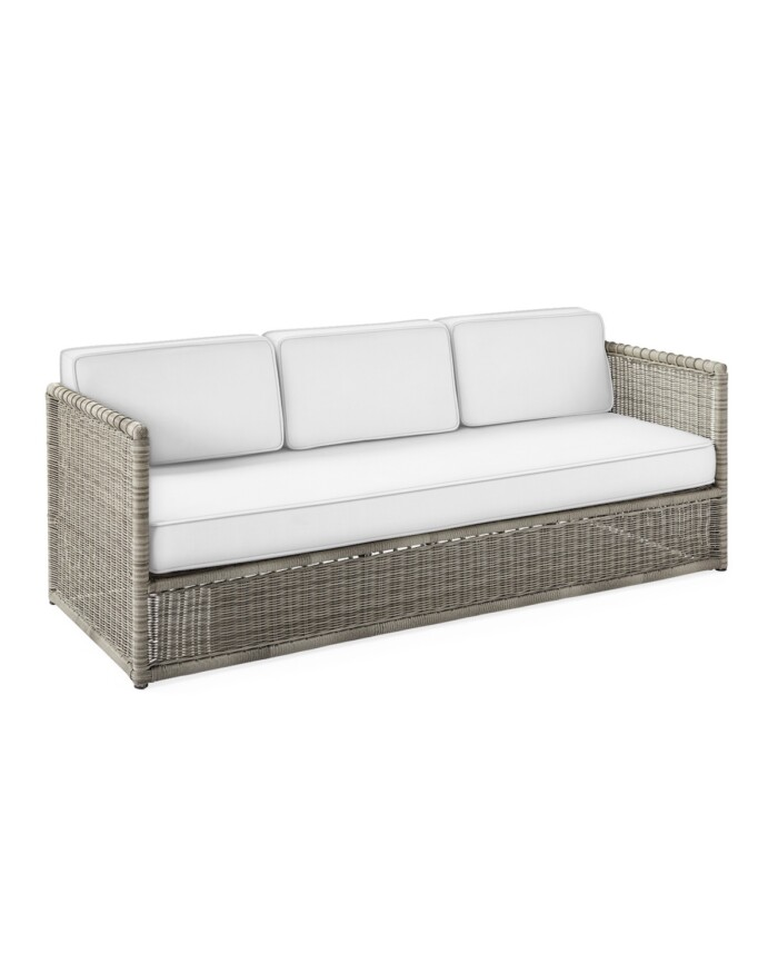 gray wicker sofa