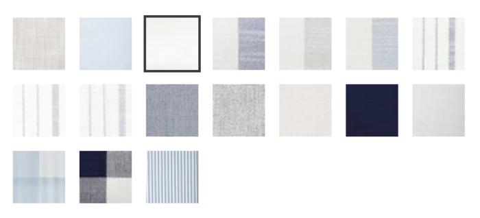 swatches of outdoor fabrics