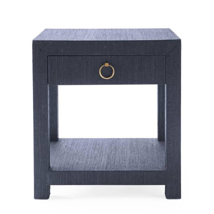 navy blue raffia nightstand