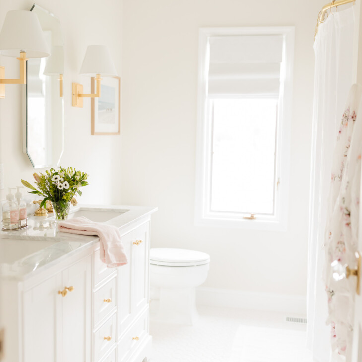 bathroom painted in white dove