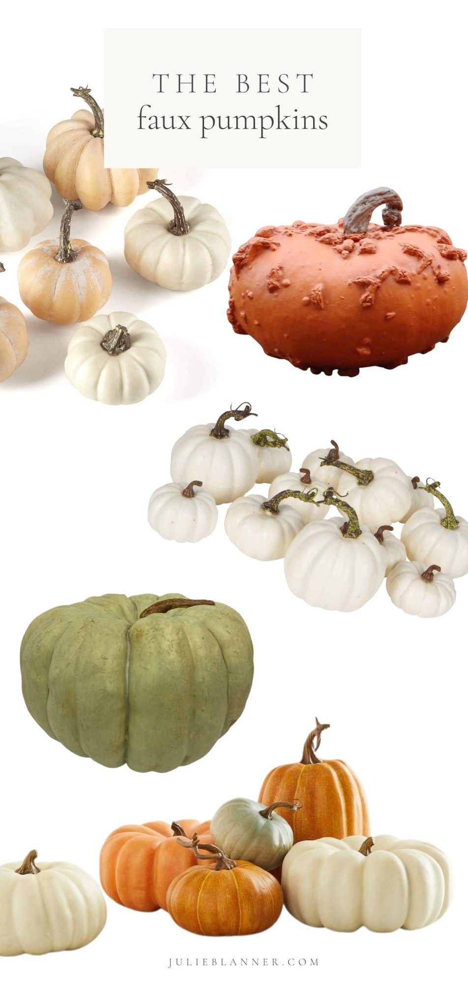 graphic of faux pumpkins